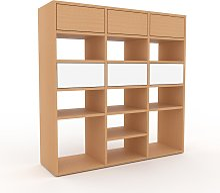Système d'étagère - Hêtre, modulable,