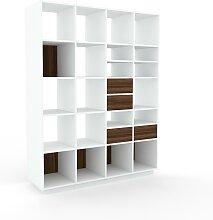 Système d'étagère - Noyer, modulable,