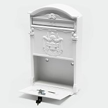 système Letterbox dans le mur blanc de style