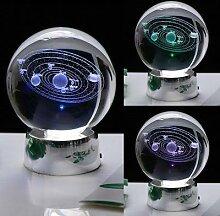 Système solaire 3D 60MM boule de cristal