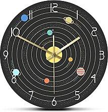 Système Solaire dans l'espace Horloge Murale