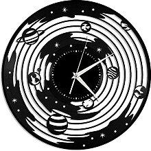 Système Solaire Horloge Murale en Vinyle Cadeau