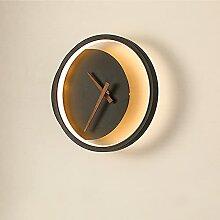SYXBB Appliques murales Design Horloge Ronde 15W