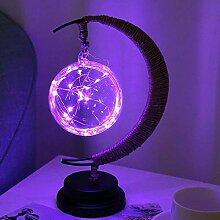 SYyshyin Lampe de table LED en forme de lune avec