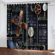 SZMWSNM Rideau Salon Occultant Noir L 91.5 x H 214