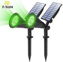 T-SUN 1/2/4 Packs Vert Lampes Solaires Led