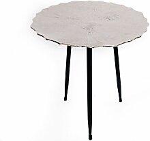 Table à café design en métal Lotus - Diam 45 x