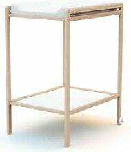 Table à langer 1 étagère en bois brut 50x70