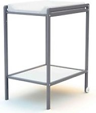 Table à langer 1 étagère en bois gris 50x70
