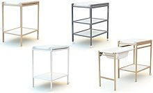 Table à langer : 2 étagères / laqué