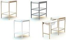 Table à langer : 2 étagères / peinture - blanc