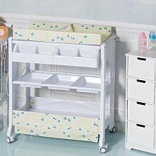 Table à langer avec baignoire bébé rangement