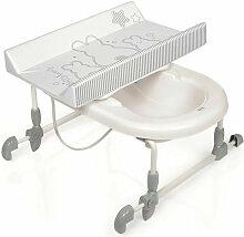 Table a langer + Baignoire Bagnotime Lapinou perle