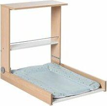 Table à langer murale en bois hêtre wicki +