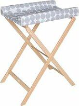 Table à langer pliable en bois hêtre trixi avec