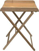 Table à langer  pliante vernis naturel - 82x87x55