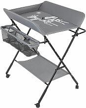 Table à langer portable pliable gris - gris