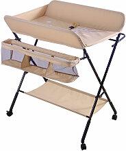 Table à langer portable pliable rose - rose