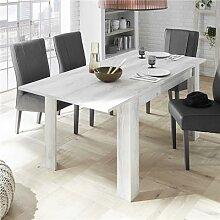 Table à manger 140 cm couleur pin + rallonge 50