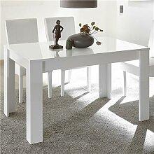Table à manger 180 cm blanche design SERENA
