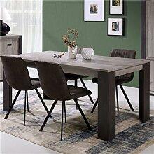 Table à manger 180 cm couleur chêne gris ADRIEN