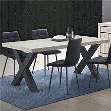 Table à manger 190 cm couleur bois naturel EUGENIA