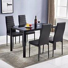 Table à manger + 4 Chaises de Salle à Manger  de