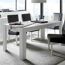 Table à manger blanc laqué mat design BURTON