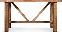 Table À Manger Bois Marron 150x90x78.5cm -