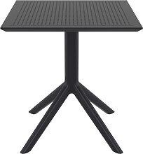 Table à manger carrée design noire intérieur /