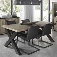 Table à manger contemporaine couleur bois et