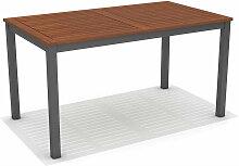 Table à Manger de Jardin Nápoles Bois Aluminium