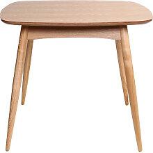 Table à manger design carrée frêne naturel L90