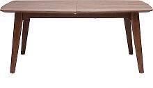 Table à manger design extensible noyer L180-230