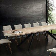 Table à manger extensible bois massif ILONA