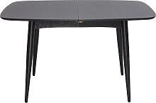 Table à manger extensible bois noir L130-160 cm