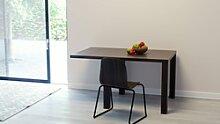 Table à manger extensible - Noyer, contemporaine,