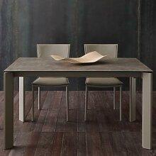 Table à manger extensible taupe en céramique EVA