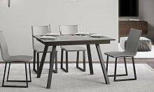 Table à manger Mirhi avec rallonge : 160 x 60 cm