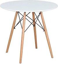 Table à manger ronde avec pieds en bois, Style