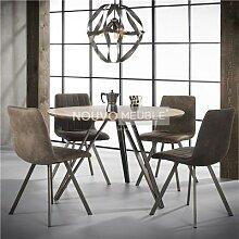 Table à manger ronde couleur bois DAYTONA