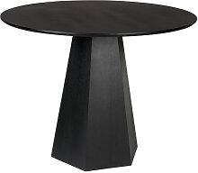 Table à manger ronde D100cm noir