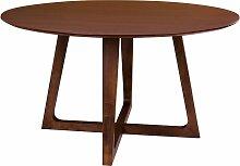 Table à manger ronde en bois 137cm