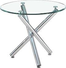 Table à manger ronde en verre - Alex