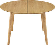 Table à manger ronde extensible finition chêne