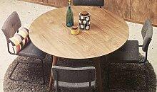 Table à manger ronde finition noyer Ø120cm -