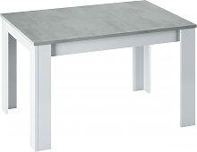 Table à manger THEA extensible L140/190cm - Blanc