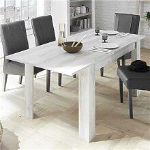 Table a rallonge 180 contemporaine couleur pin