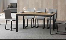 Table à rallonge Cumar avec cadre et base en fer
