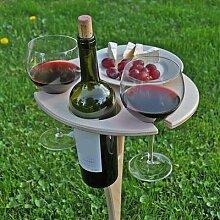 Table à vin d'extérieur, Design en